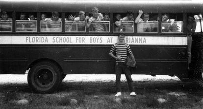 Estudiantes de la Escuela para Varones de Marianna, en 1957.