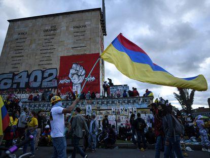Una de las protestas en Bogotá en contra del Gobierno de Iván Duque, el pasado 20 de julio.