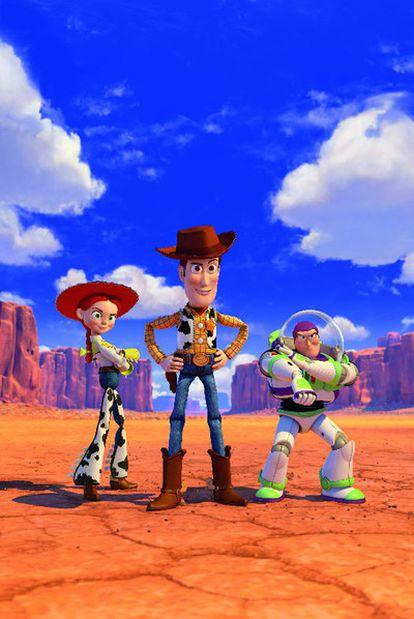 Woody, Jessie y Buzz Lightyear, los tres personajes principales de <i>Toy story 3.</i>