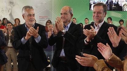 Los expresidente José Antonio Griñán y Manuel Chaves, en una imagen de archivo.