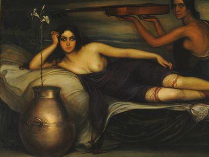 Retrato de Musidora realizado por Julio Romero de Torres en 1923.