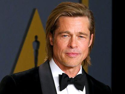 Brad Pitt en los Oscar, el 9 de febrero de 2020.