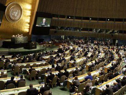La Asamblea General de Naciones Unidas , en Nueva York.