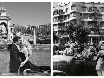 Dos de las fotos de Barcelona como Hollywood.