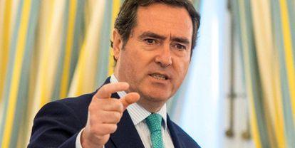 El presidente de la Confederación Española de la Pequeña y Mediana Empresa (CEPYME), Antonio Garamendi.