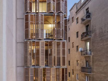 Casa d'Amics en el barrio de Poblenou, en Barcelona.