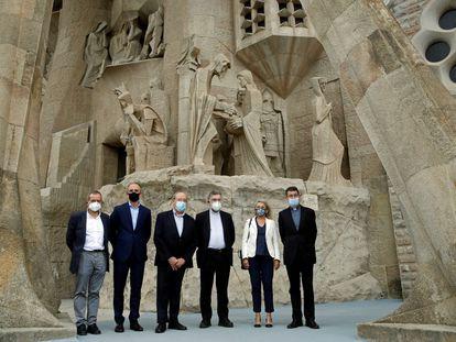 La basílica de la Sagrada Familia sirvió este martes de escenario para la presentación del nuevo Centro Internacional de Estudios Avanzados Antoni Gaudí, cuyo objetivo es reunir todo el material y documentos del arquitecto y sus colaboradores.