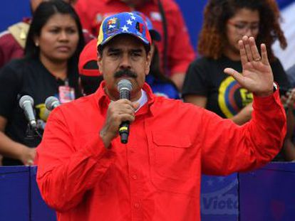El líder venezolano se muestra en público tras el fiasco del 23 de enero y hace una exhibición de fuerza