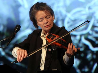 Laurie Anderson, en Berlín en 2017.