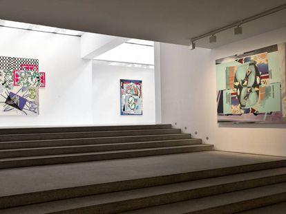 Vista de la exposición de Luis Gordillo en la galería Malborough.