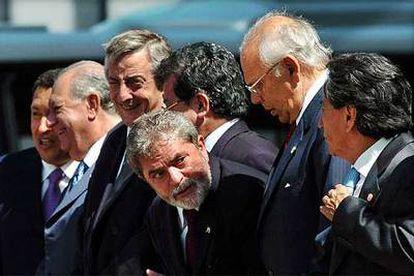 Presidentes de los países del Mercosur en un encuentro en Ouro Preto (Brasil).