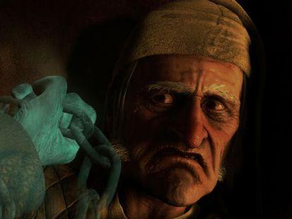 Jim Carrey como Mr. Scrooge en 'Cuento de Navidad' de Robert Zemeckis.