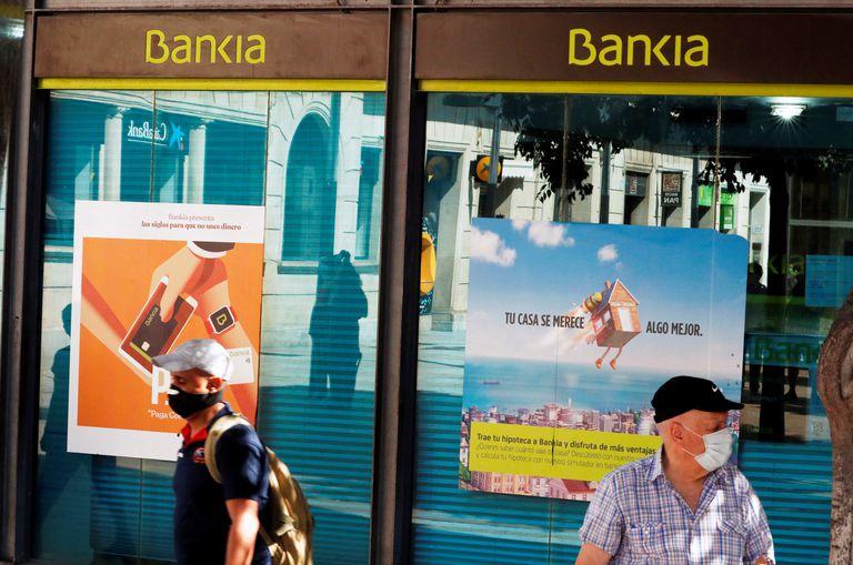 Una sucursal de Bankia en Barcelona