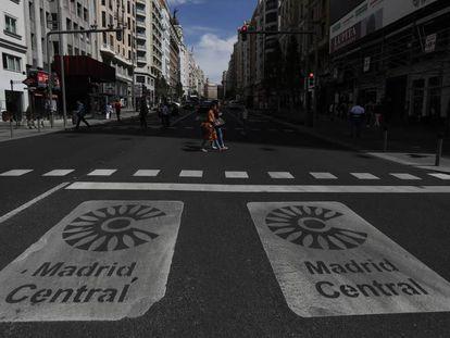 Entrada a la Gran Vía desde la Plaza de España.