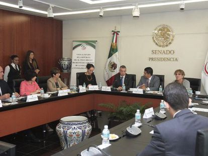 Iñigo Urkullu, durante su visita al Senado de México.
