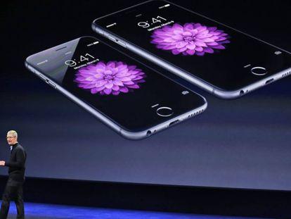 Presentación del iPhone 6 en marzo de 2015.