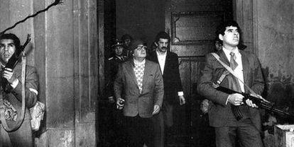Salvador Allende en La Moneda en 1973.