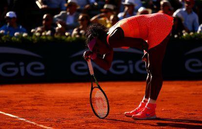 Serena Williams, mareada ante Bacsinszky.