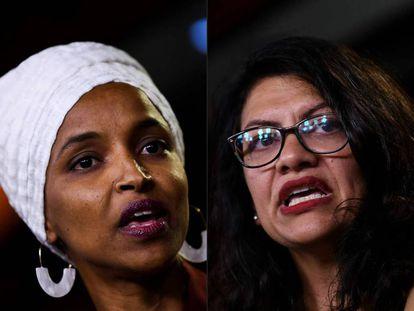 La congresistas demócratas Ilhan Omar y Rashida Tlaib.