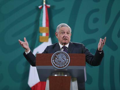 López Obrador en su conferencia mañanera de este jueves.
