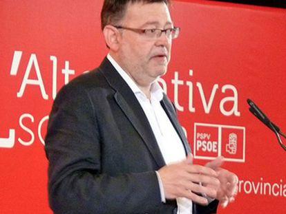 Ximo Puig, ayer, en el congreso provincial del PSPV de Alicante.