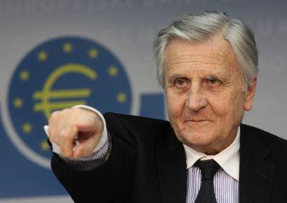 Jean-Claude Trichet en 2011, durante una rueda de prensa en Fráncfort cuando era presidente del Banco Central Europeo