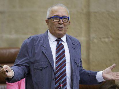José Sánchez Maldonado en el Parlamento de Andalucía.