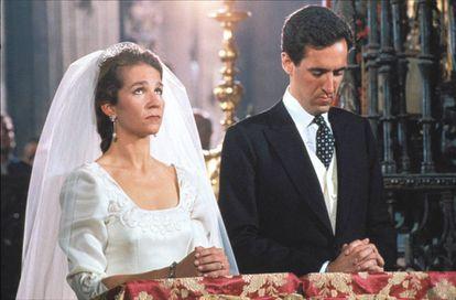 Boda de la infanta Elena y Jaime de Marichalar, el 18 de marzo de 1995 en la Catedral de Sevilla.
