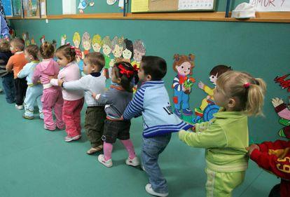 Un aula de niños de dos años en una imagen de archivo.