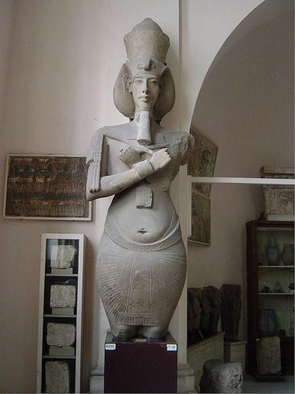 Akhenaten statue in the Egyptian Museum in Cairo.