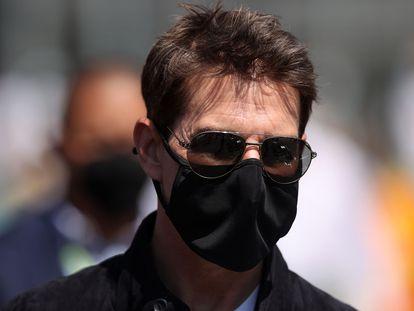 Tom Cruise, durante el Gran Premio de Fórmula 1 de Silverstone, en Reino Unido, el pasado julio.