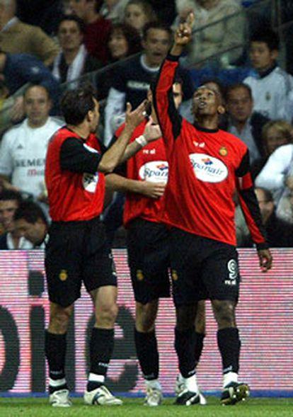 Eto'o, tras marcar el sábado en el estadio Bernabéu.