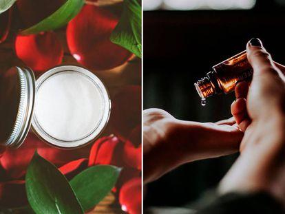 Las cremas y los aceites naturales son efectivos para reparar los daños en la piel y el pelo.