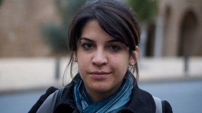 La activista tunecina Lina Ben Mhenni en Valencia en 2012.