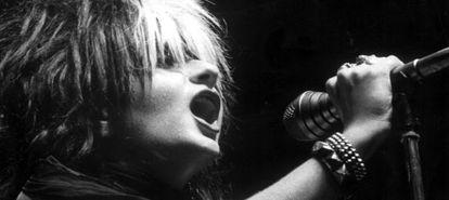 Actuación de Alaska y los Pegamoides en el festival de rock Villa de Madrid en 1982.