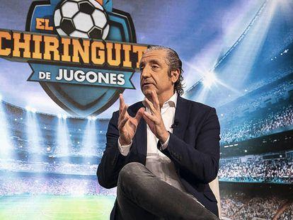 Josep Prederol, el presentador de 'El chiringuito de jugones', un programa que alcanza dimensiones de fenómeno social.