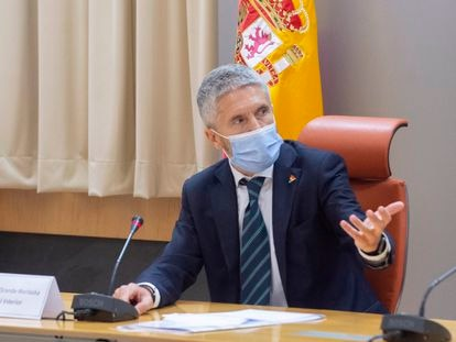 El ministro del Interior, Fernando Grande-Marlaska, este lunes.