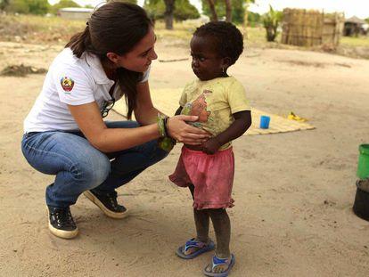 La epidemióloga Beatriz Galatas en Magude, Mozambique.