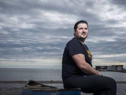 David Cal, en el Mar Menor a finales de noviembre.