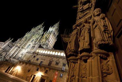 La fachada del Obradoiro de la catedral en Santiago de Compostela.
