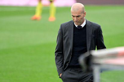 Zinedine Zidane, durante su último partido como técnico del Real Madrid, el sábado en el Alfredo di Stéfano.
