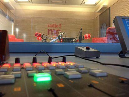 Imagen de uno de los estudios de Radio 5.