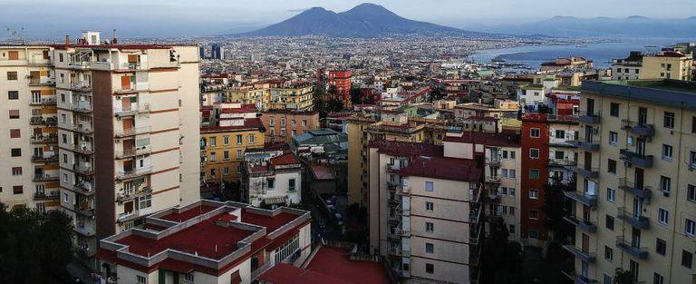 Vista de Nápoles, Italia.