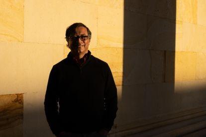 Gustavo Petro al termino de una entrevista el 09 de septiembre de 2021 en Bogotá, Colombia.