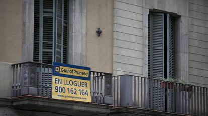 Imagen de un piso en alquiler en Barcelona.