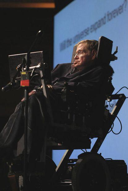 Stephen Hawking, en 2008 en Ciudad del Cabo.