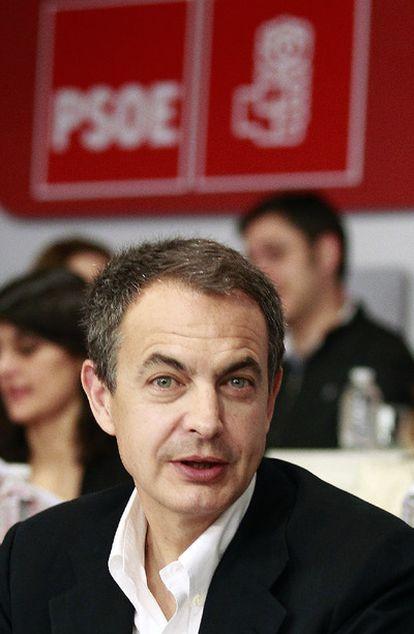Rodríguez Zapatero en el Comité Federal del PSOE