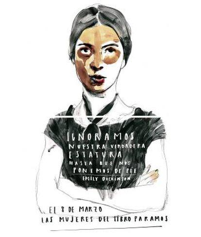 Ilustración utilizada por el movimiento para el 8 de marzo.