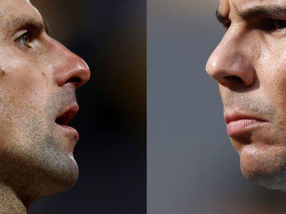 Djokovic y Nadal, en Roland Garros.