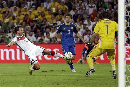 Götze marca el gol de la victoria de Alemania